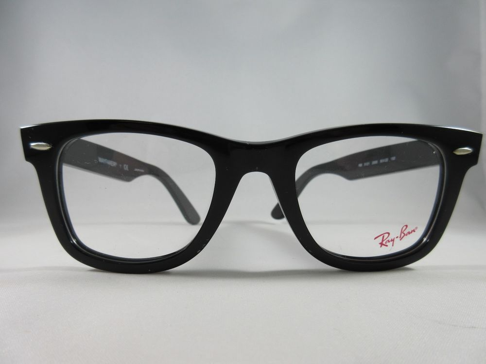 26f51b2d65 RAY BAN RB 5121 2000 BLACK WAYFARER 100% AUTHENTIC EYEGLASSES 47mm ...