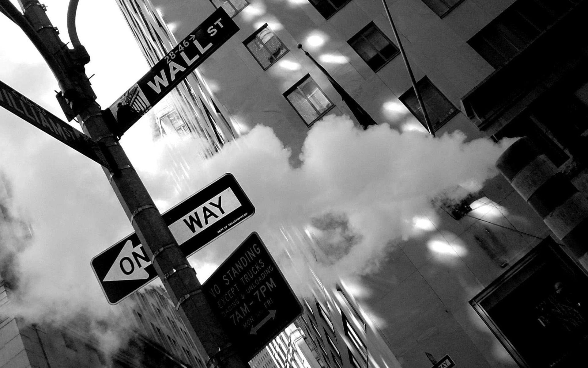 Image Photo Photographie Image En Noir Et Blanc La Ville New York New York Ville Manhattan Wall Street La Rue Uo Wall Street Black And White Street