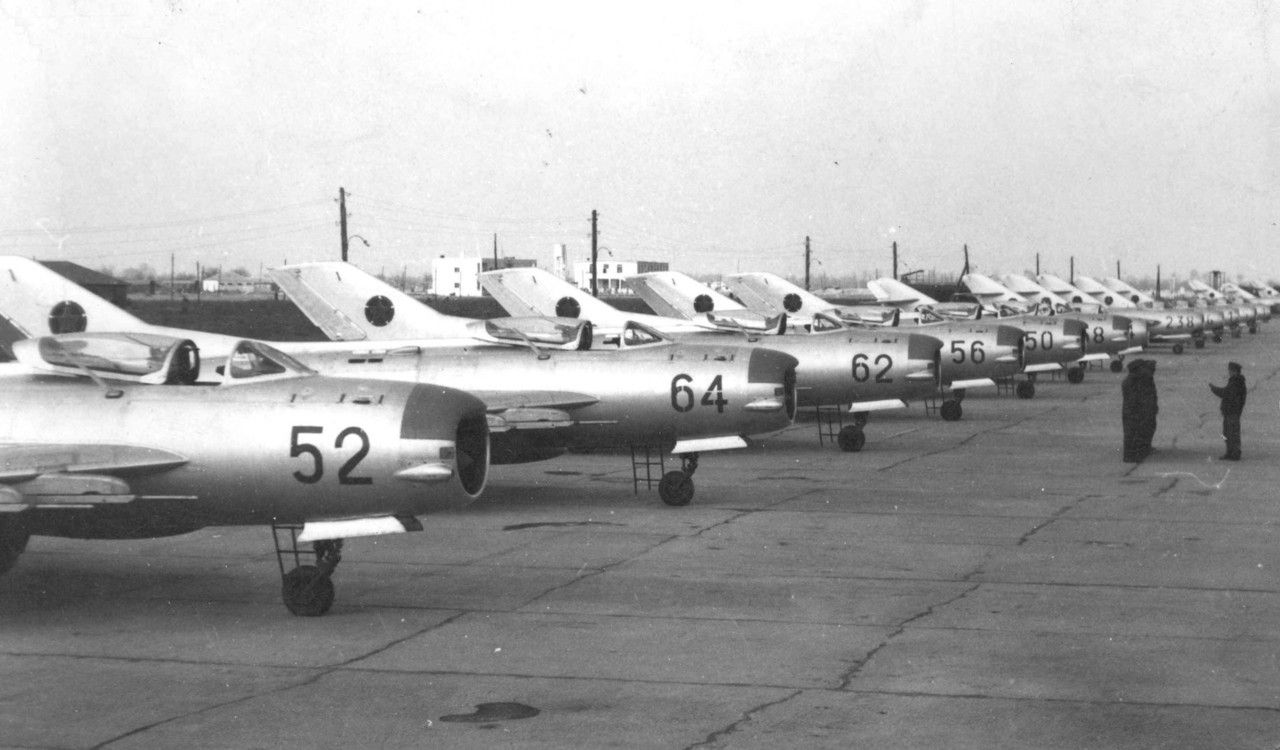 Albanian MiG-19 fighters.   Fighter, Military, Fighter jets