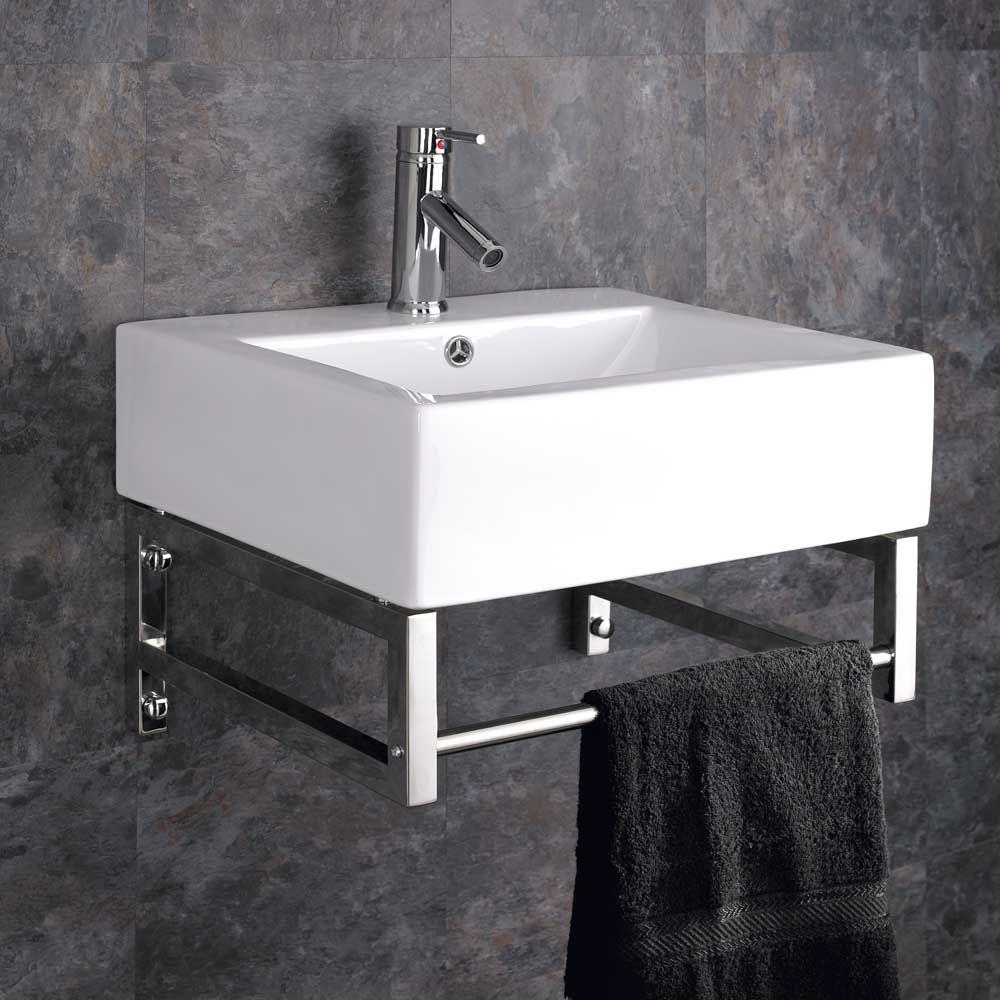 New Pedestal Sink towel Bar Wall Mount