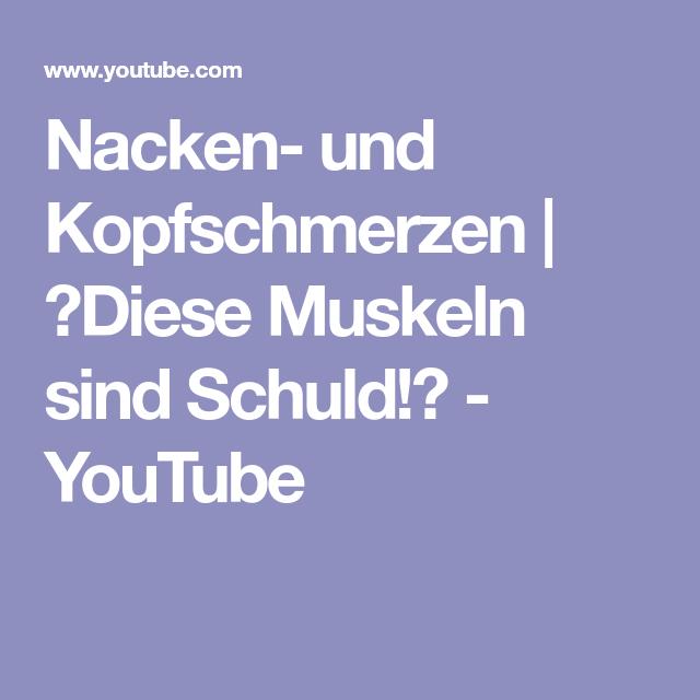 Nacken- und Kopfschmerzen   💥Diese Muskeln sind Schuld!💥 - YouTube ...