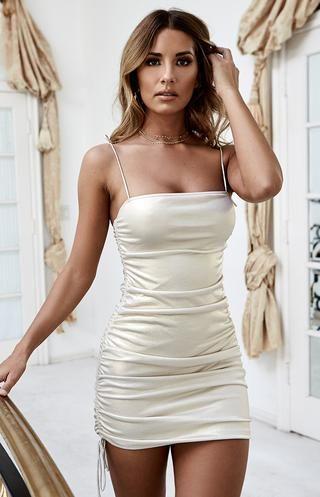 novah rib knit top white in 2020  mini dress fashion