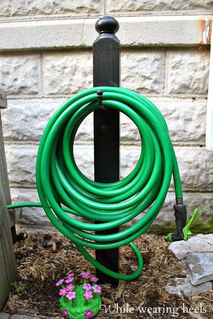 Remodelaholic 25 Curb Appeal Ideas Garden Hose Holder Garden Hose Diy Garden