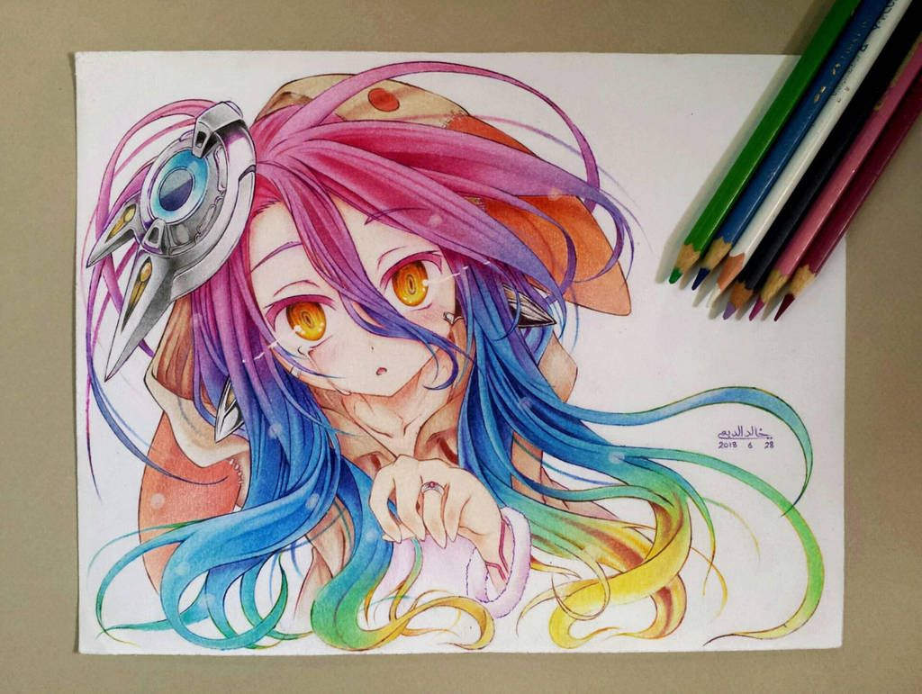 Schwi By Khalidaldobaie Color Pencil Illustration Cool Art Drawings Anime Drawings Tutorials