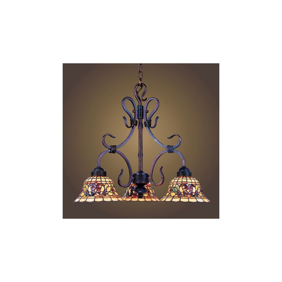 Westmore Lighting Saint Augustine 21 In 3 Light Vintage Antique Tiffany Style Stained Gl Tiffany Style Chandeliers Tiffany Stained Glass Tiffany Style Lighting