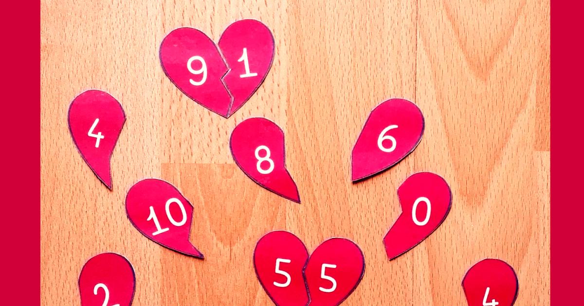 Legespiel Verliebte Zahlen Zahlenraum Bis 10 Klasse 1 Mathe