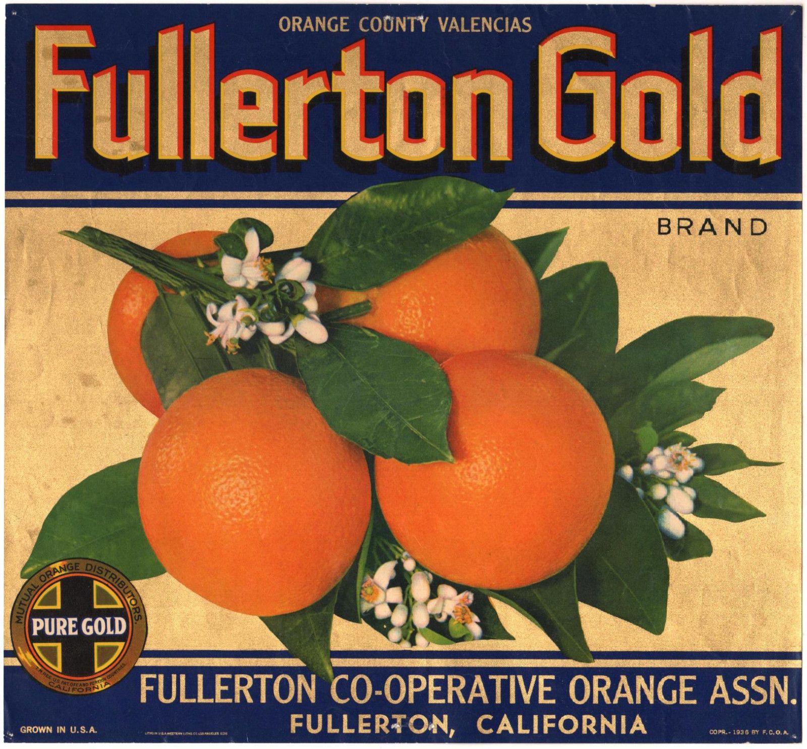 *Original* SHAMROCK Placentia Grove GOOD LUCK Grapefruit Crate Label NOT A COPY!