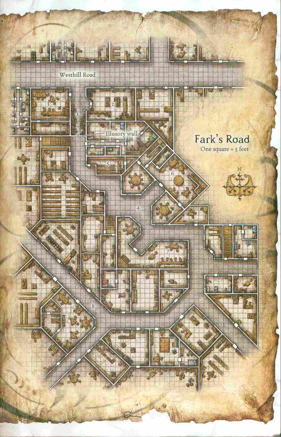 Rpg Map, Masmorras E Dragões, Mapa Cidade