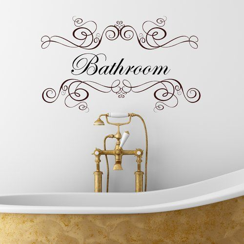 Wandtattoo Badezimmer Rosalind Wheeler Farbe: Braun