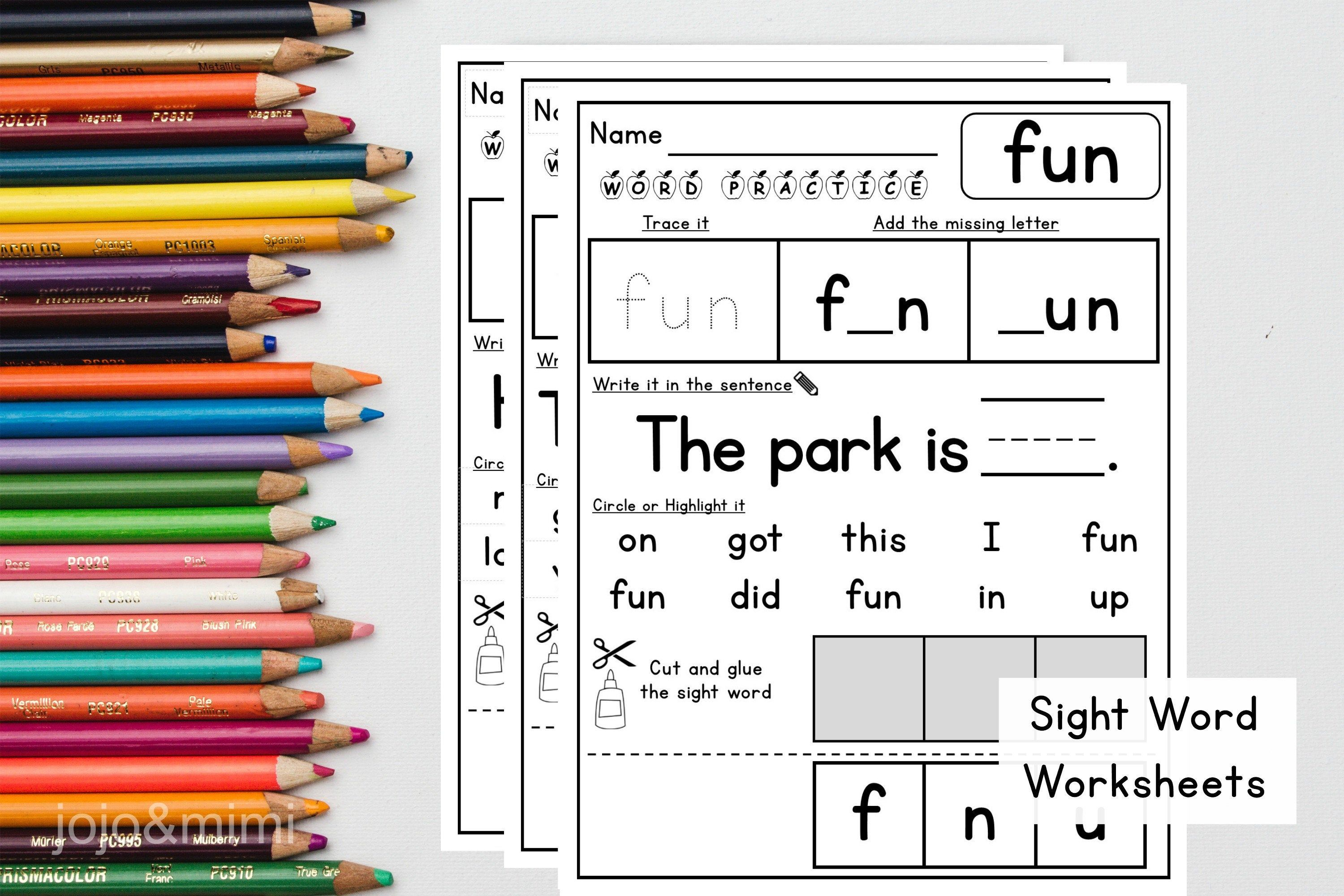 Sight Word Worksheets Printable Sight Word Practice Learn