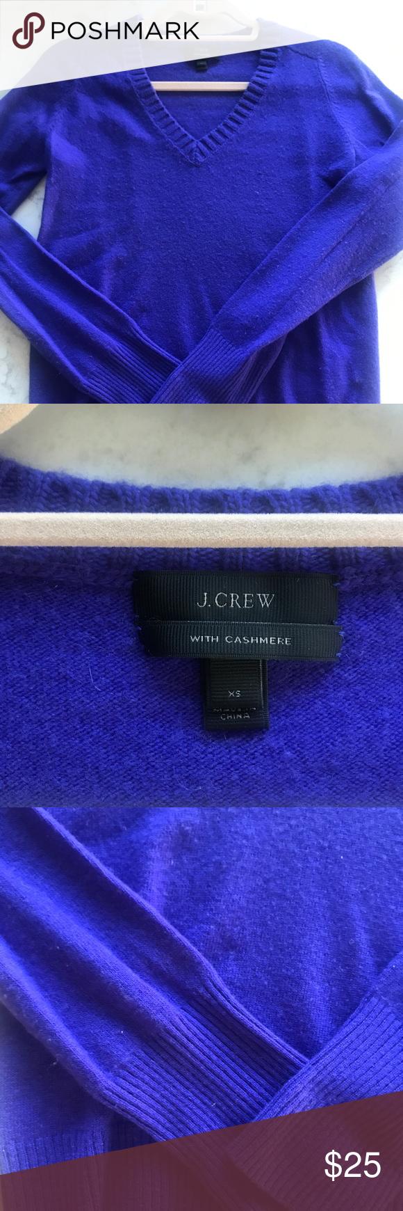 J crew bright purple cashmere sweater | Bright purple, Cashmere ...