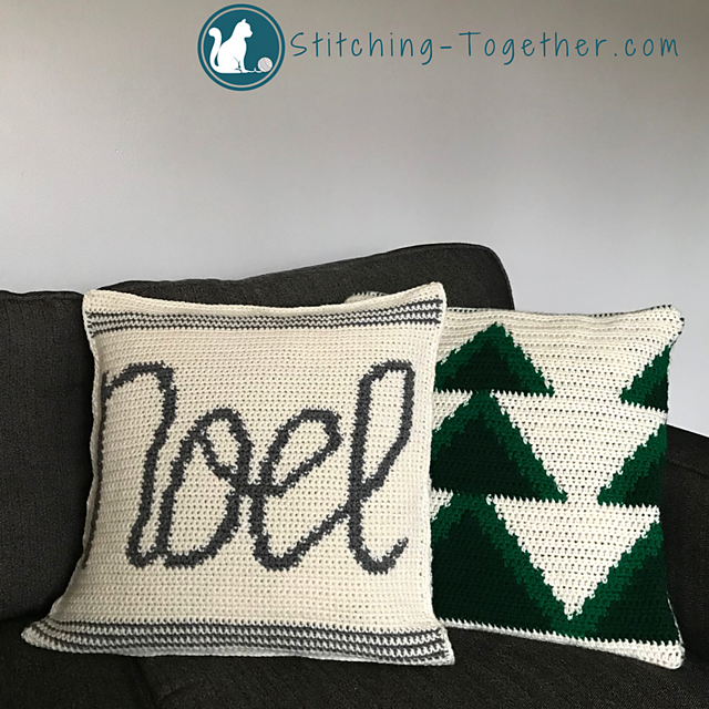 Noel Pillow Cover - free crochet pattern #rhss | Stitching Together ...