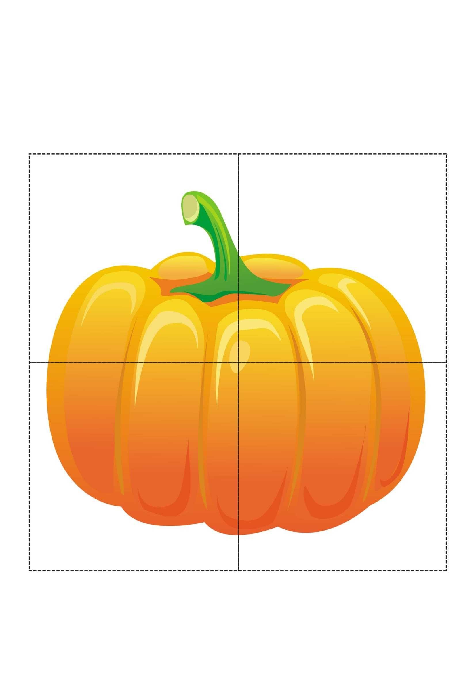 4 Piece Puzzle Patterns On Vegetables