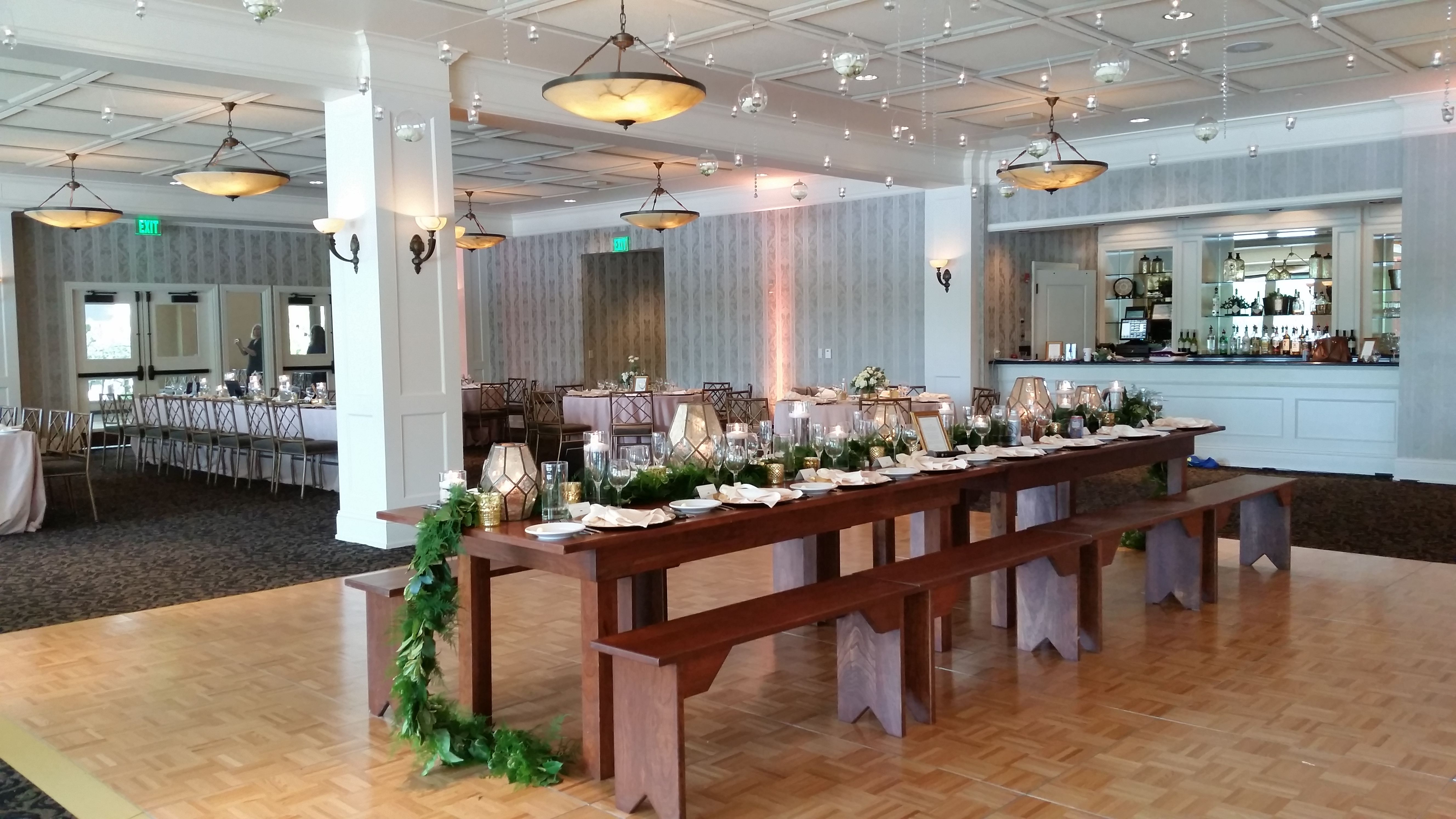 A Unique Take On A Head Table For The Wedding Party The