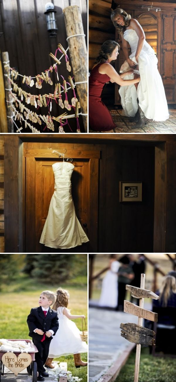 Devil's Thumb Ranch wedding (clothespin)