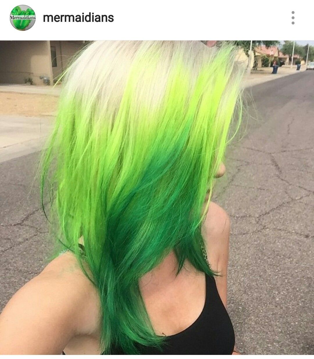 Pin By Dominique Arleane On Hair Unique Color Neon Green Hair Hair Green Hair Ombre