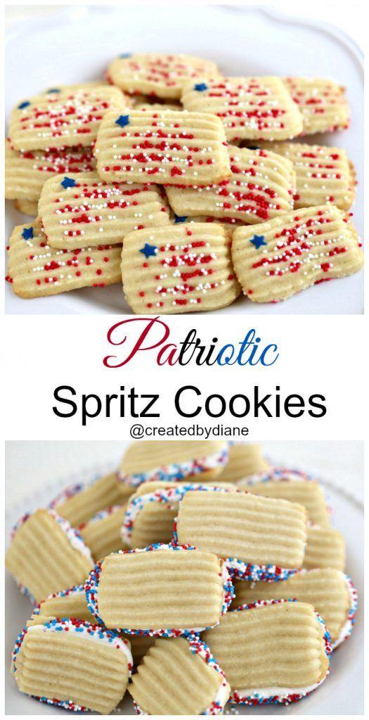 4th of july spritz cookies