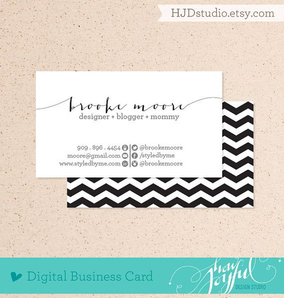 Chevron business card digital file we customize you print pdf or chevron business card digital file we customize you print pdf or jpg high reheart Choice Image