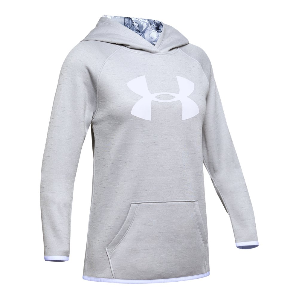 Reebok Girls/' Active Full Zip Hoodie Heather Grey XL