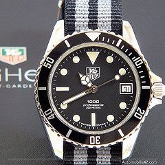 TAG Heuer 1000 Submariner Man Stainless steel with a Black ...