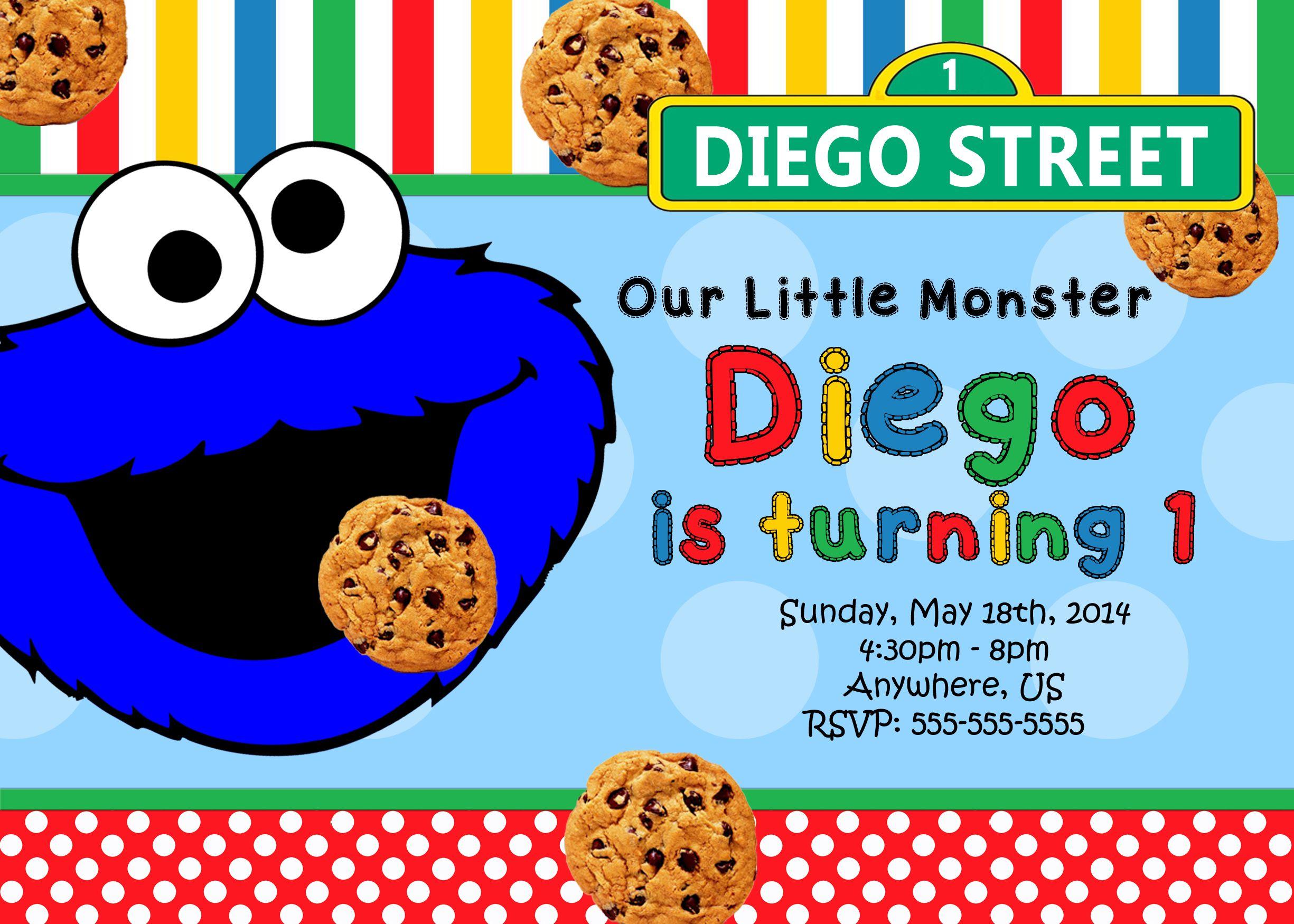 Cookie Monster Birthday Invitations 8