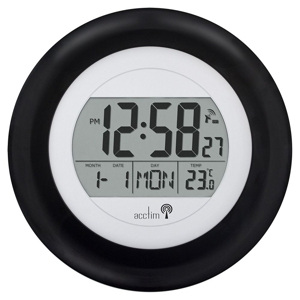 Msf Radio Controlled Clock Digital Wall Mount Calendar Indoor