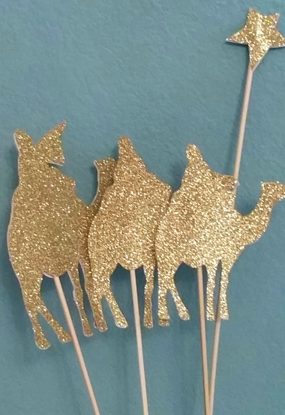 Choose colors! Set of Three Wise Men Christmas toppers on ...