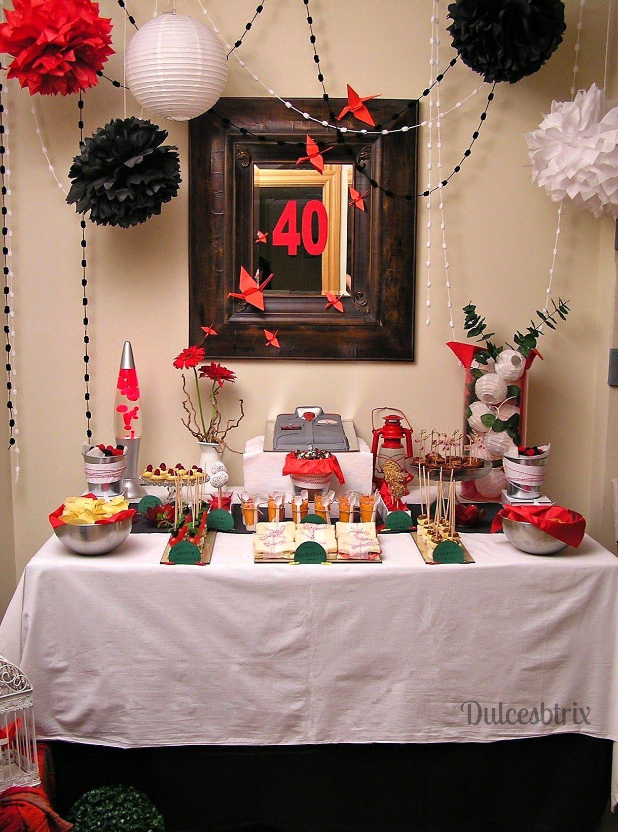 Mesa dulce rojo y negro mesas dulces decoracion - Fiesta cumpleanos adulto ...