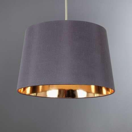 Dunelm Ritz Contemporary Design Gold Faux Silk Light Pendant