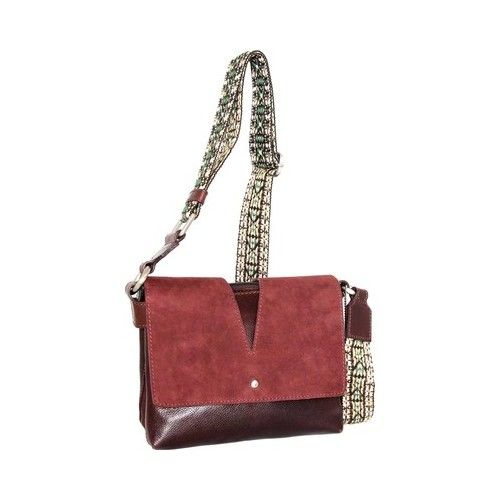 0dc555c197 Women s Nino Bossi Sumana Rocks Crossbody Bag - Walnut Zipper
