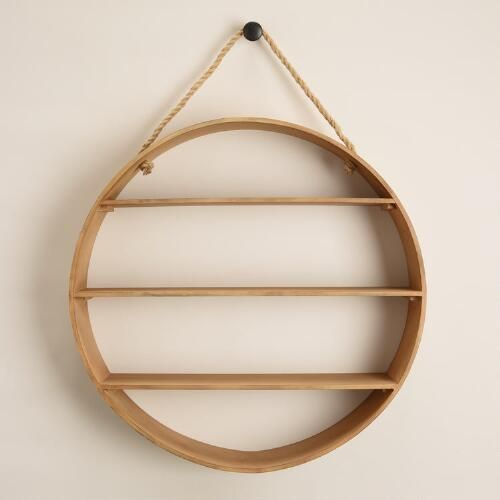 One Of My Favorite Discoveries At WorldMarket.com: Natural Round Wood Wall  Shelf