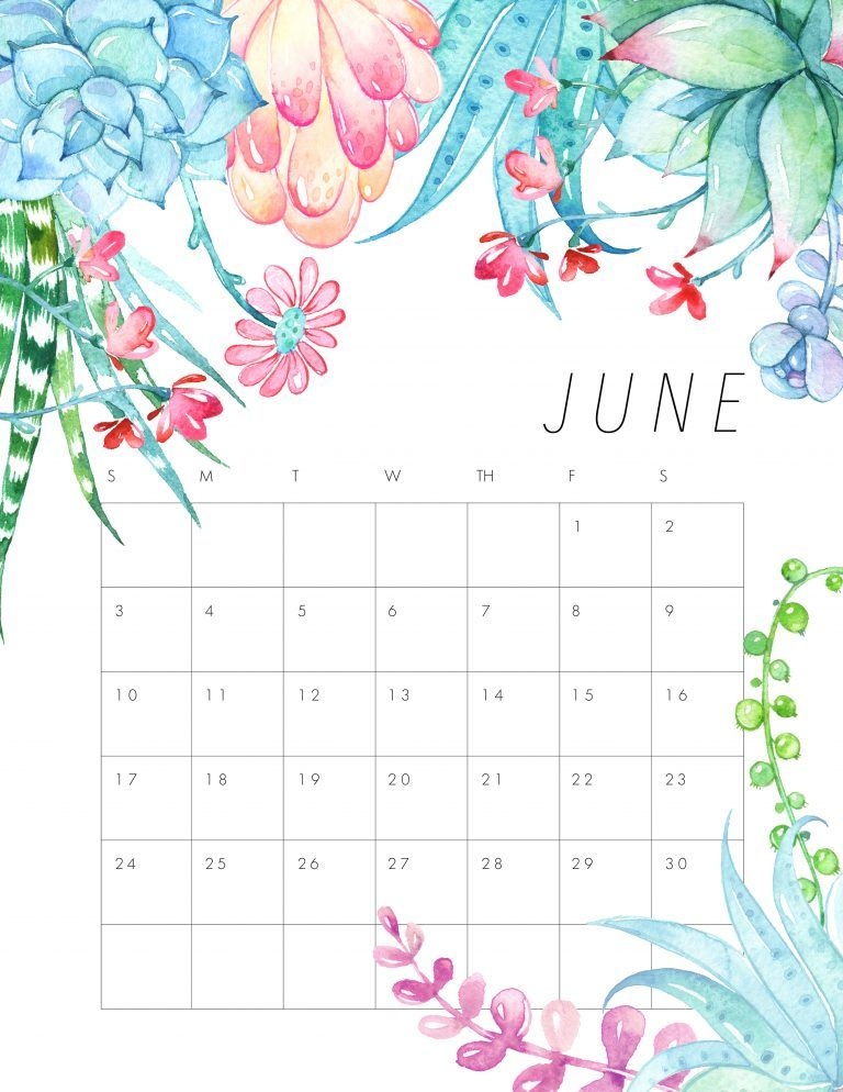 Calendario Con Week 2018.Free Printable 2018 Floral Calendar Your Pinterest Likes