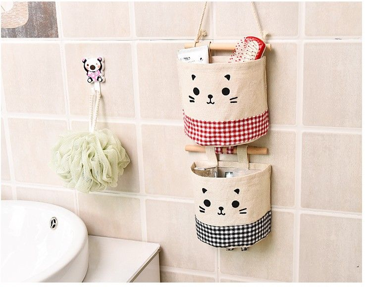 Multilayer Hanging Storage Bag Cotton Bag Hanging Sweet Fresh Bag It Can Be Assembled And Disassembled Freely Hangeaufbewahrung Stoffkorb Taschen Aufbewahrung