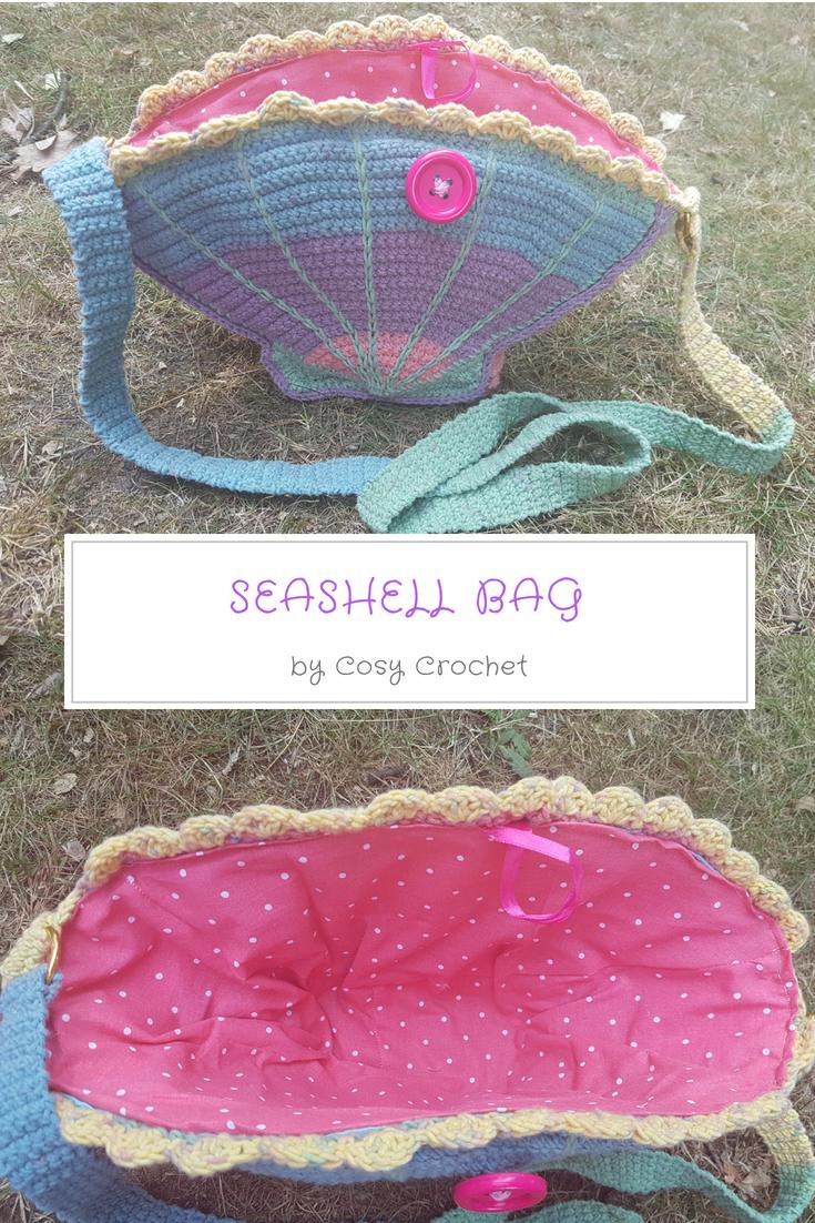 Free Crochet Seashell Bag Pattern Crochet Needlecraft Crochet