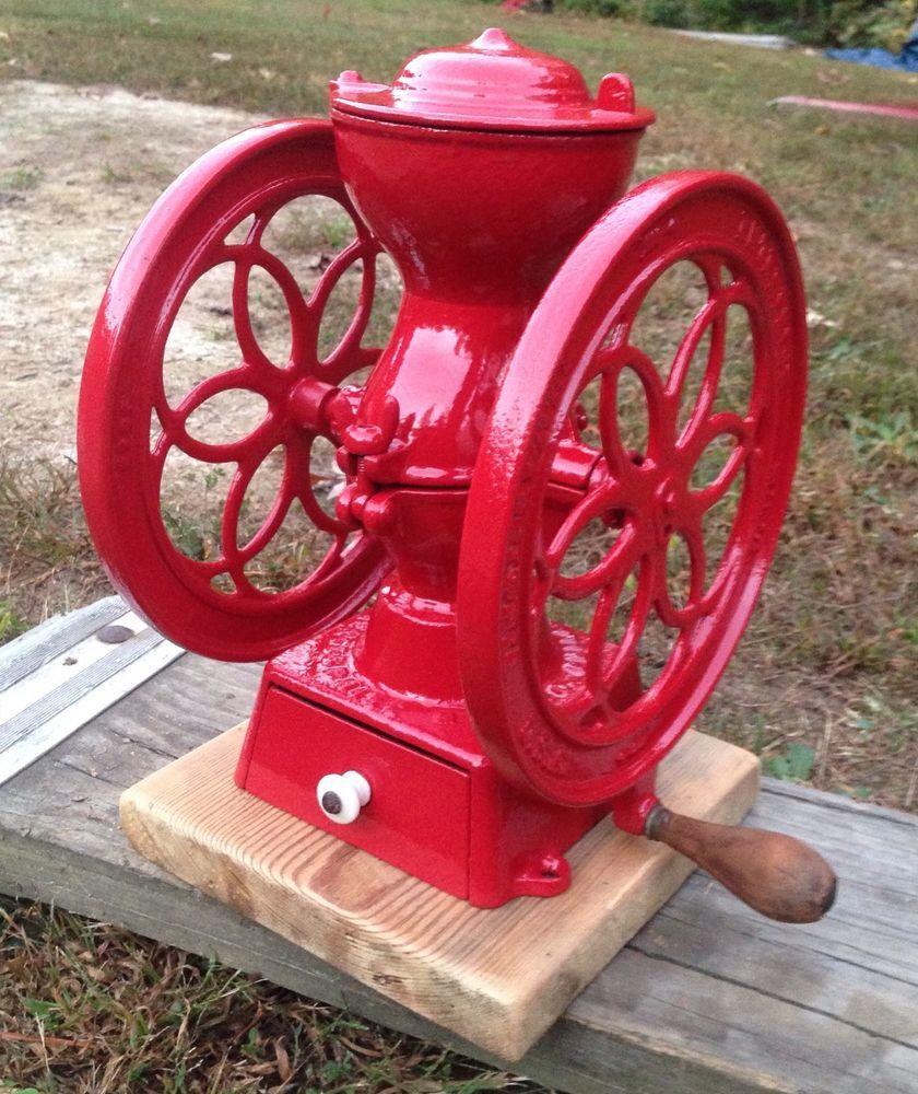 Details . 2 Antique Grist Mill Coffee Grinder