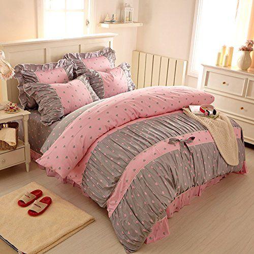 fadfay textil home sweet heart fairy print bettw sche design mit r schen und koreanischen. Black Bedroom Furniture Sets. Home Design Ideas