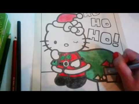 Youtube Hello Kitty Christmas Christmas Coloring Pages Kitty Coloring