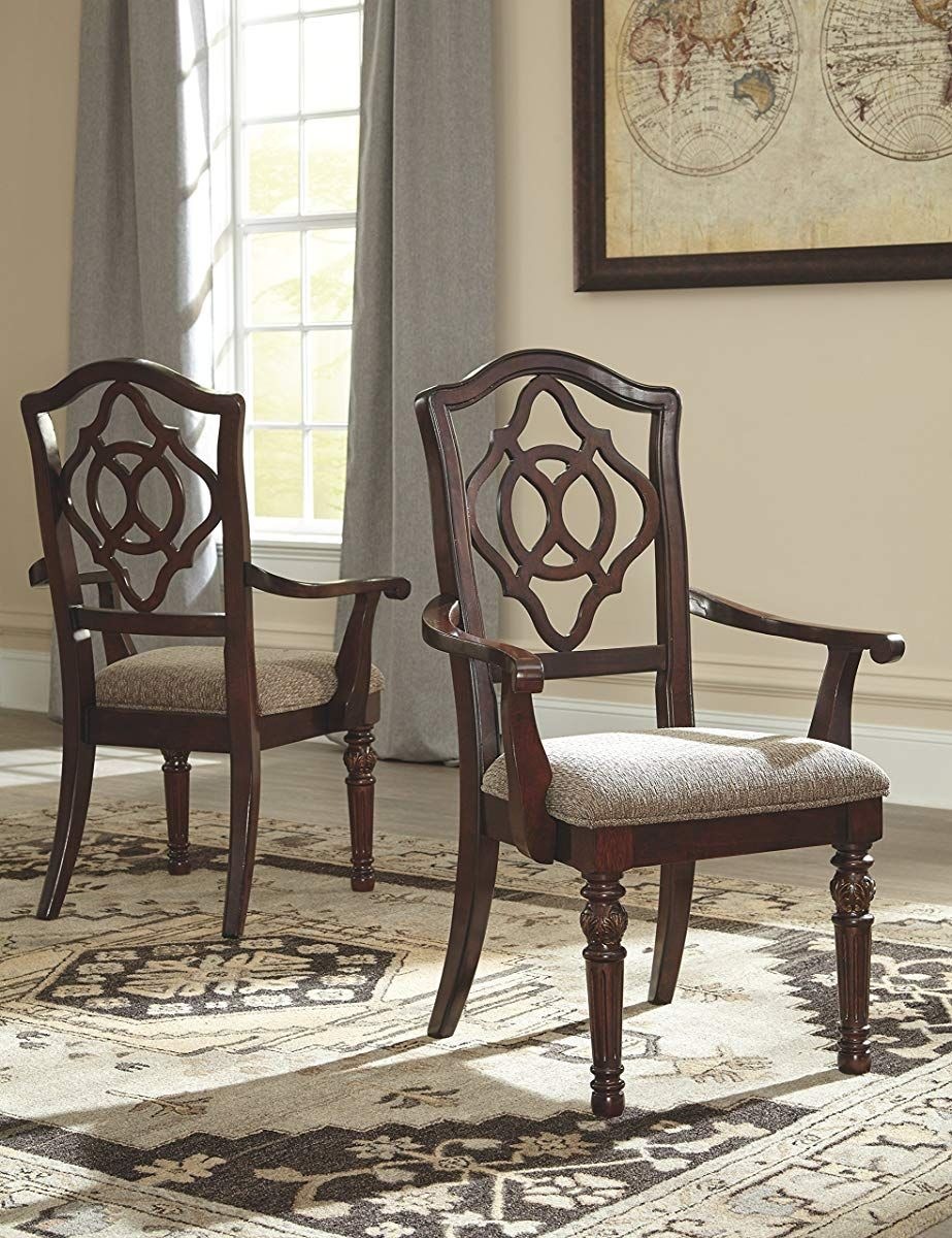 Dining chair with arms reddish brown side chairs