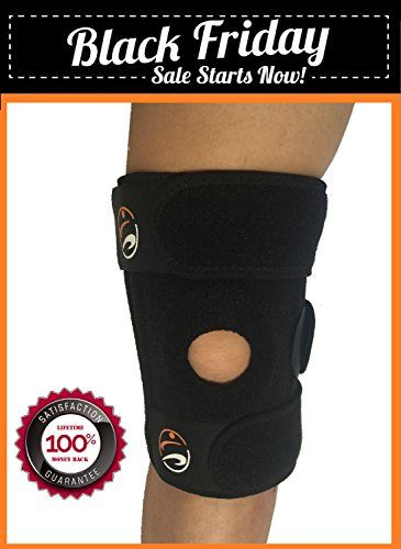 ProActivAid Neoprene Knee Brace Support, One Size, Black, Compression and Shock Absorption, Use for Running, Jumping, Walking, Arthritis Relief, ACL, Meniscus, Basketball and Outdoor Sports - ProActivAid Knee Support Brace  Need protection for your knees for impact and physical contact sports?   ★ Offers sturdiness and stability to your knees with a snug fit  ★ Reduce knee pain symptoms and swelling  ★ Faster and easier recovery after your workout, as increase in oxygen