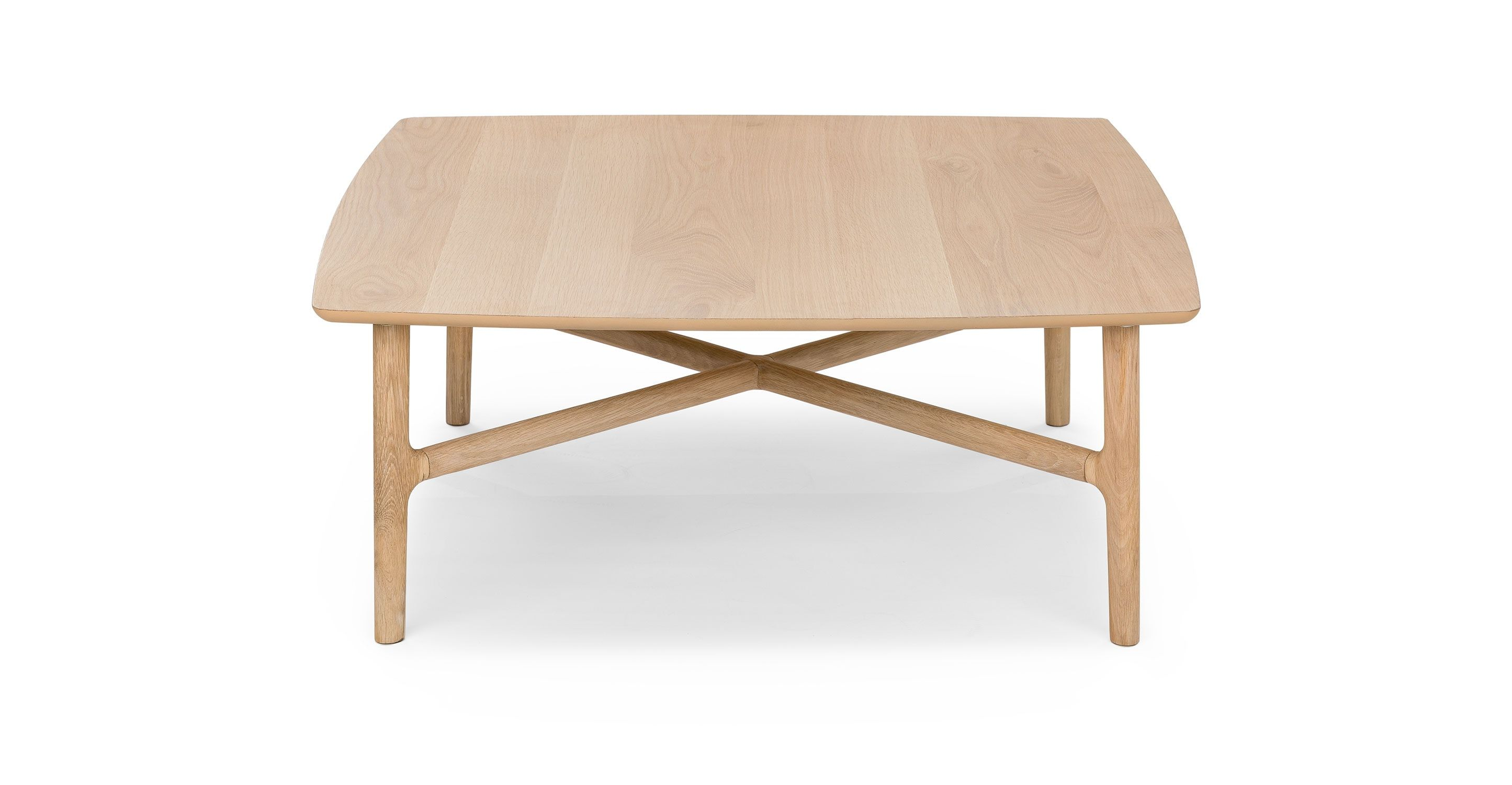 Brezza Light Oak Square Coffee Table With Images Coffee Table