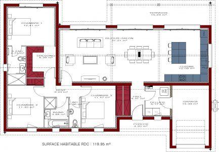 Plan de maison moderne Celia 119 ejemplos en 2018 House, House