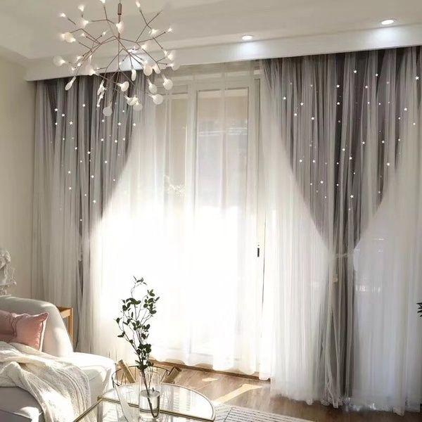 Photo of Europäischen Stil Wohnkultur Romantische Voile + Stoff Vorhänge für Wohnzimmer Grau Bereit Blackout Vorhänge Fenster Tüll für Schlafzimmer Cortinas | Wunsch