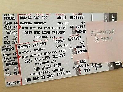Tickets Bts Wings Tour Tickets P2 Backga Newark Prudential Center 3 23 Tickets Bts Wings Tour Prudential Concert Tickets