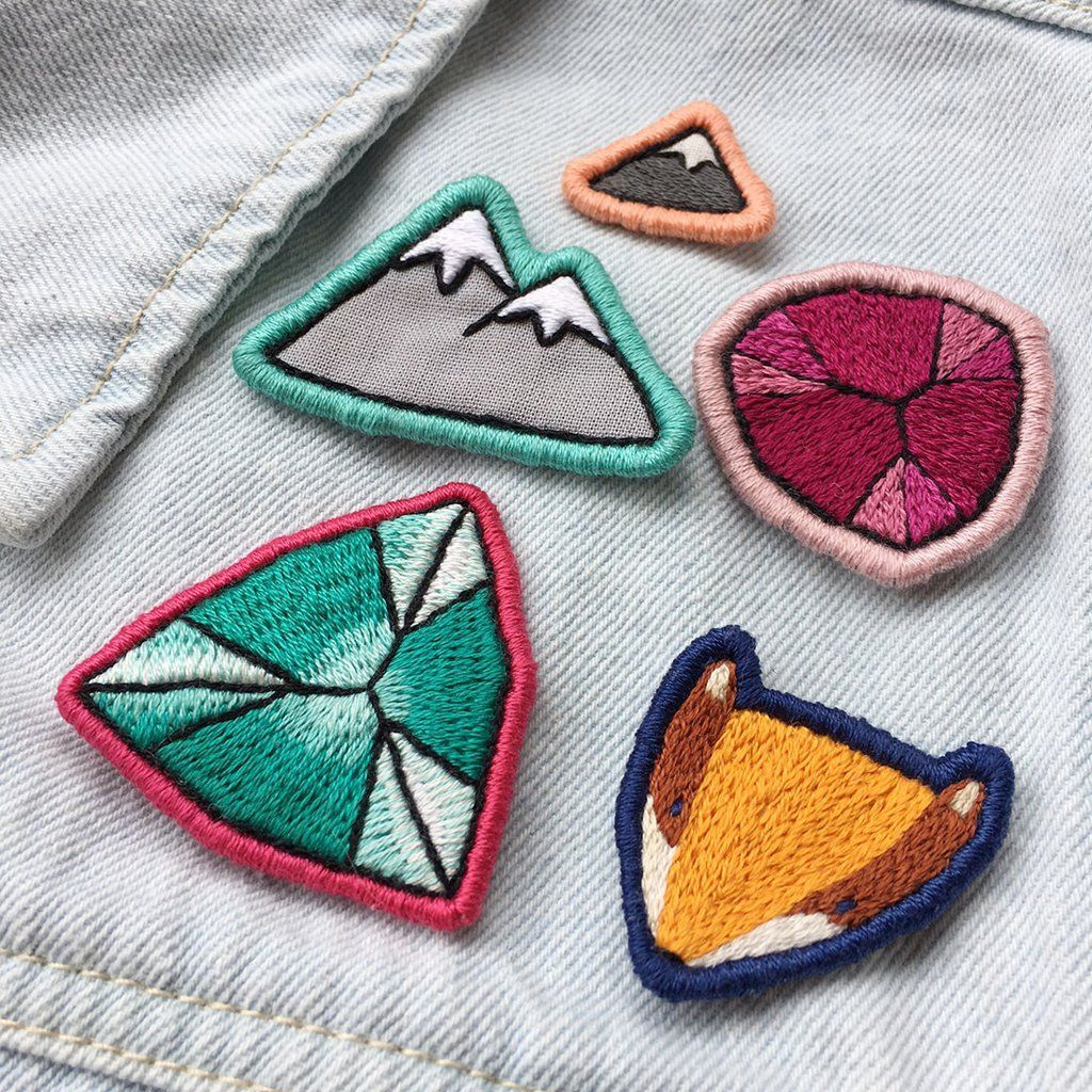 Diy Embroidered Patch Workshop Embroidered Patch Diy Diy Patches Mason Jar Crafts Diy