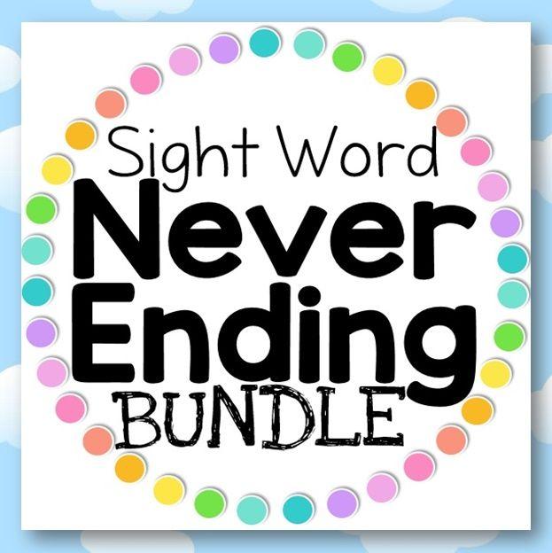 Sight Word Never Ending BUNDLE | Word Work | Pinterest | Kind