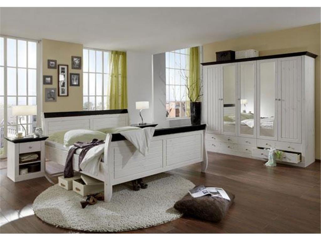 Schlafzimmer Monaco ~ Schlafzimmer set teilig bett kleiderschrank nachttisch
