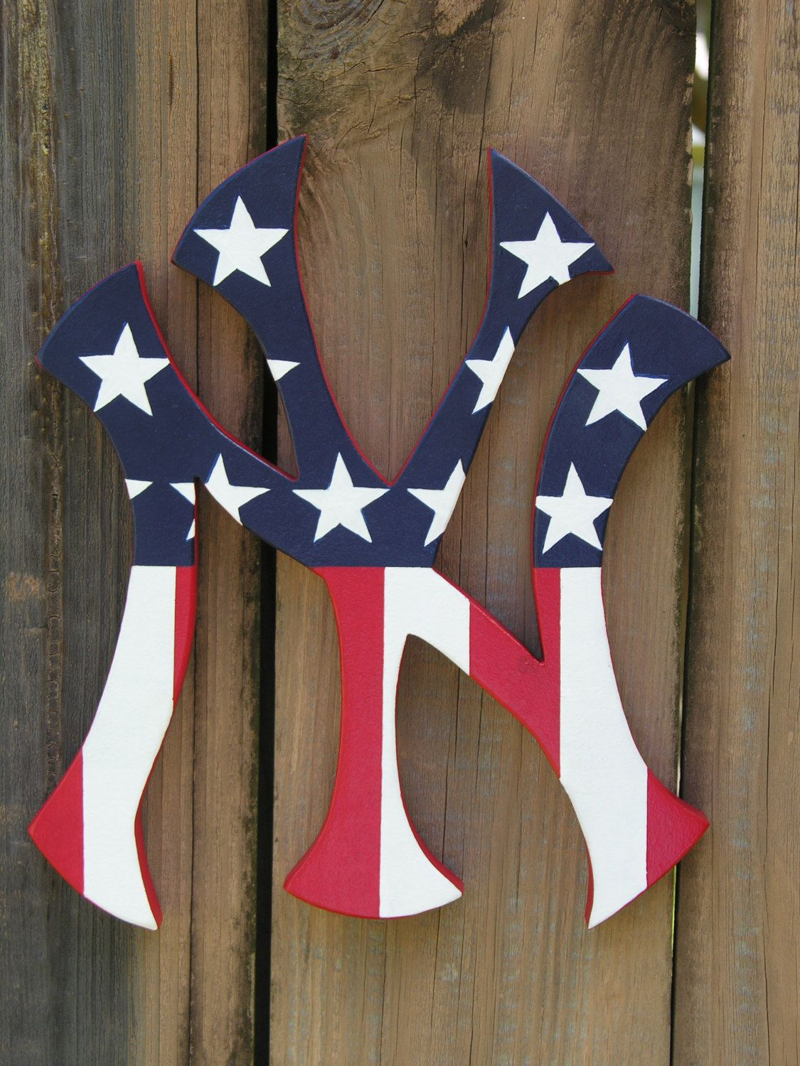 Painted Stars And Stripes New York Yankees Logo Etsy New York Yankees Logo Yankees Logo New York Yankees