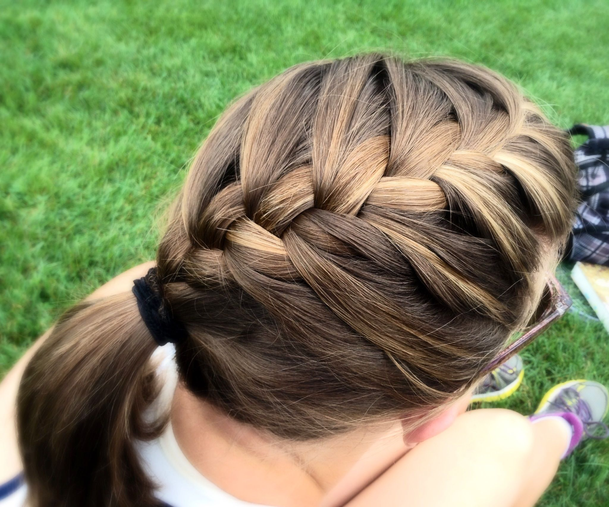 French Braid Ponytail | My hairstyles | Braided ponytail, Hair ...