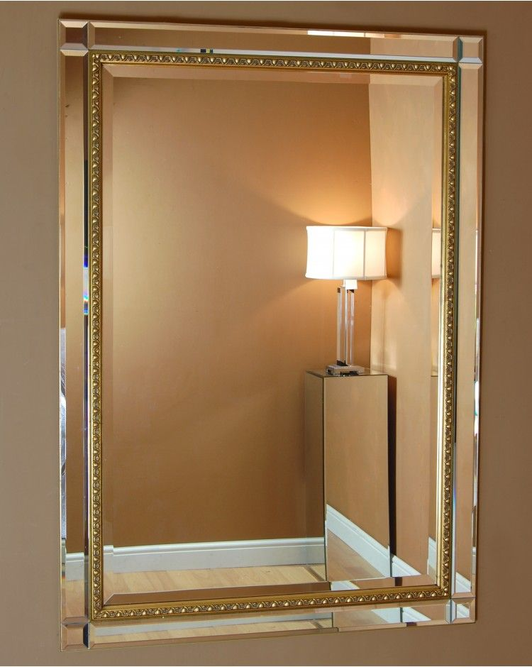 Mirrors Cattolica Large Venetian Contemporary Modern Bevelled Glass Panel Wall Mirror Gold Detail Modern Mirror Wall Mirror Gallery Wall Mirror Wall