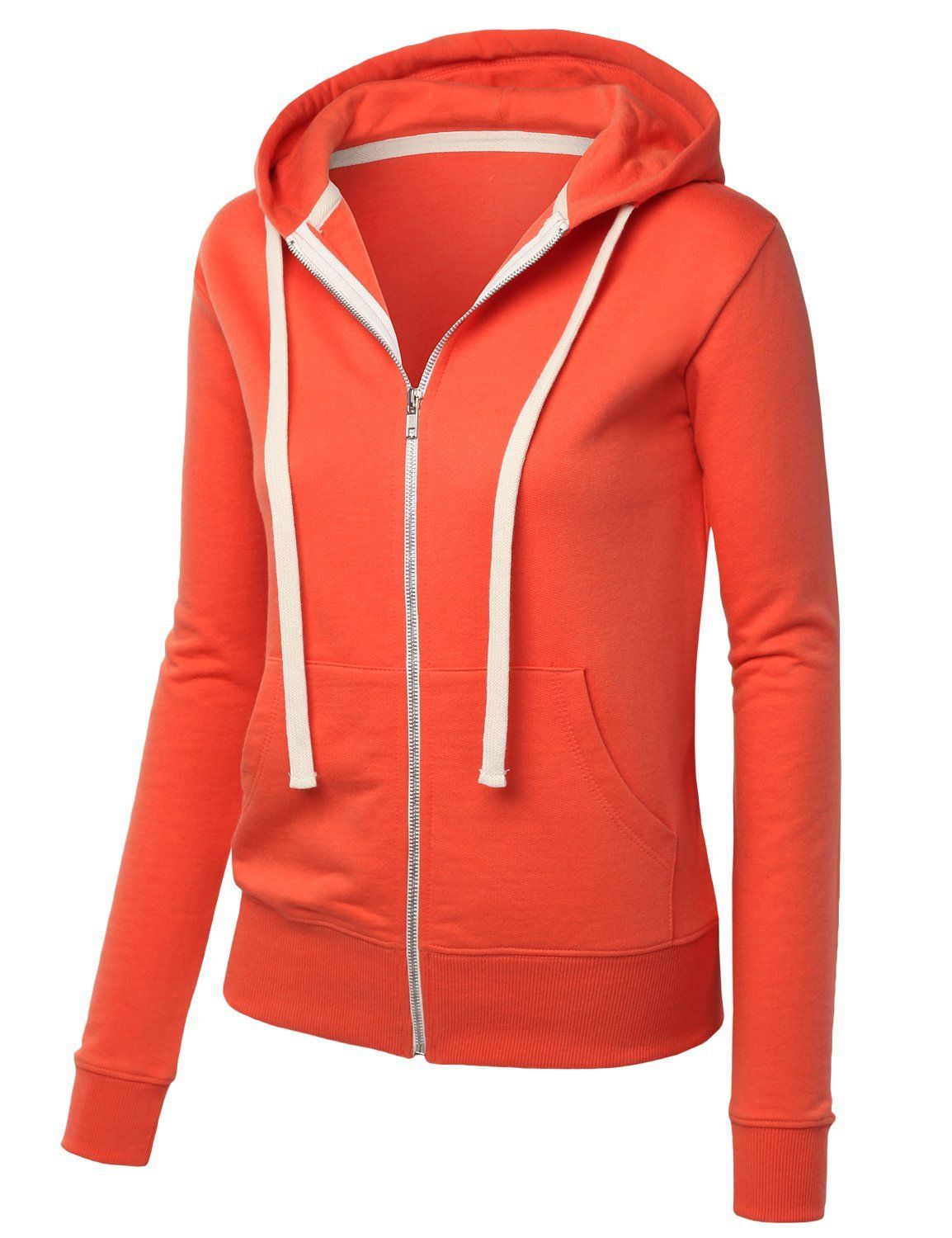 Womens premium active soft zip up fleece hoodie sweater jacket
